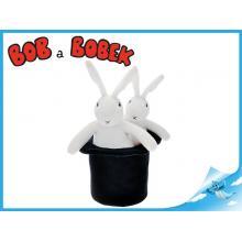 Bob 25cm a Bobek 20cm plyšoví s kloboukem 16cm 0m+