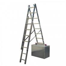 KRAUSE 3x9 Hliníkový žebřík schodový