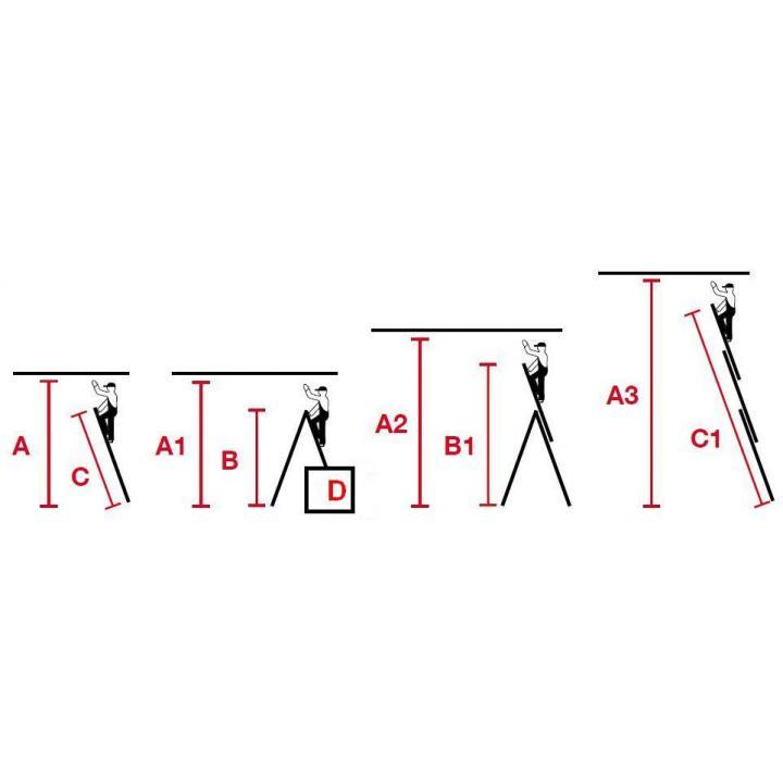 KRAUSE 3x8 Hliníkový žebřík schodový