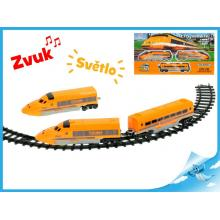 Vlak s vagónky 61cm + dráha 70cm na baterie se světlem a zvukem
