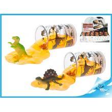 Dinosaurus se slizem 6,5cm v kelímku 12druhů