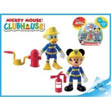 Mickey Mouse a Donald figurky záchranáři kloubové 8cm 2ks s doplňky