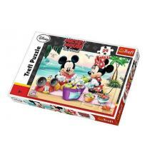 Trefl Mickey a Minnie na pláži 24 dílků