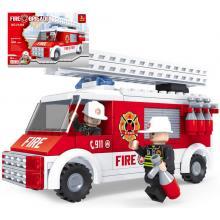 Ausini hasiči auto - 150 dílů stavebnice