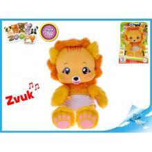 Zoopy Babies lvíček plyšový 24cm svítící ve tmě 12+