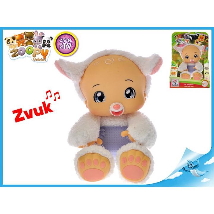 Zoopy Babies s ovečka plyšová 24cm tlapky svítící ve tmě 12+