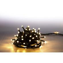 Svíčky venkovní 100 LED teplá bílá 18000061 programovatelné kabel zelený