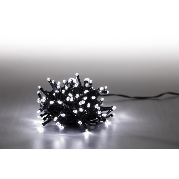 Svíčky venkovní 100 LED studená bílá 18000062 programovatelné kabel zelený