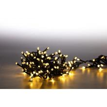Svíčky venkovní 200 LED teplá bílá 18000078 programovatelné shlukové kabel zelený