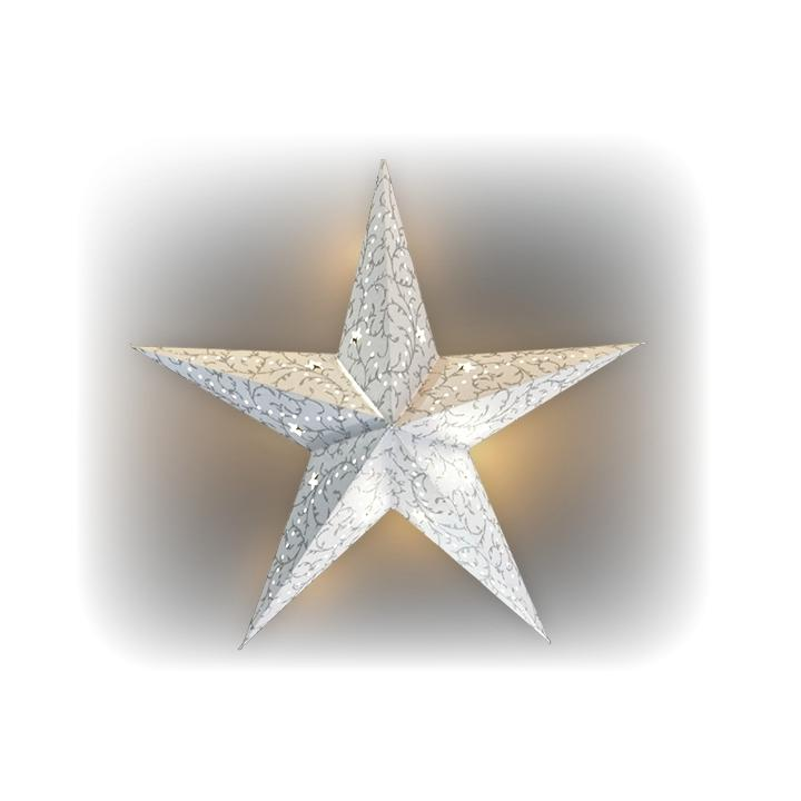 Vánoční hvězda svíticí LED papírová 18000091 Decor