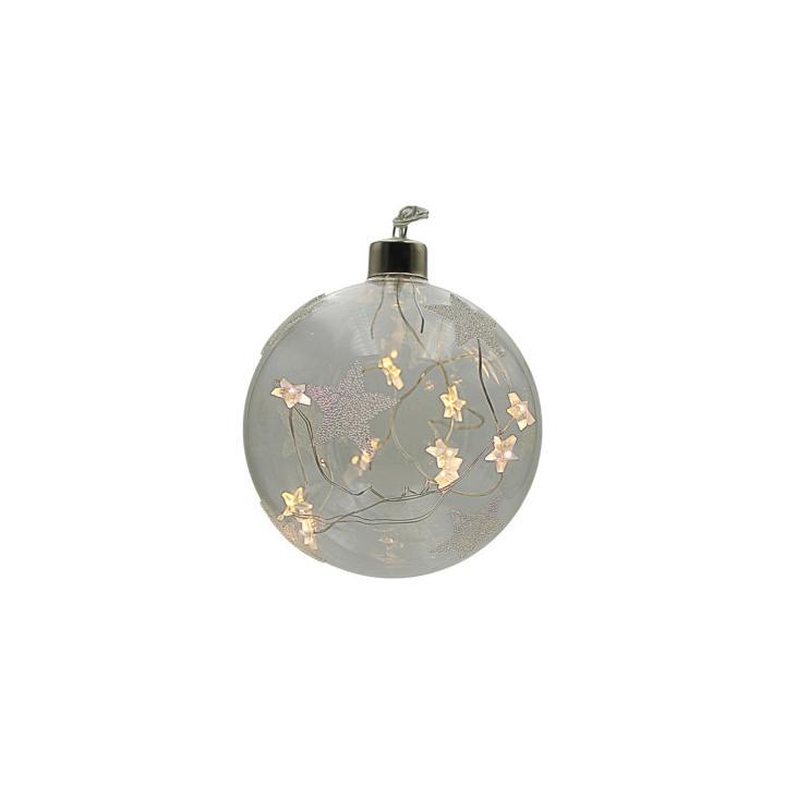 Vánoční koule se strunou hvězdy 10 LED Crystal 18000317 na baterie