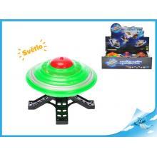 UFO 10cm na setrvačník na baterie se světlem