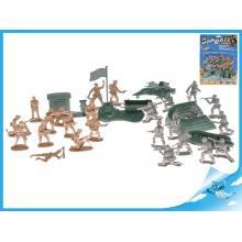 Vojáci 2vojska s vojenskými vozidly a doplňky 42ks