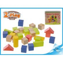 Kostky dřevěné 50ks 2-Play 12m+
