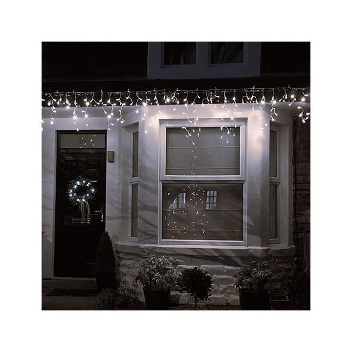 Solight 1V40-WW LED vánoční závěs, rampouchy, 120 LED, 3m x 0,7m, přívod 6m, venkovní, teplé světlo