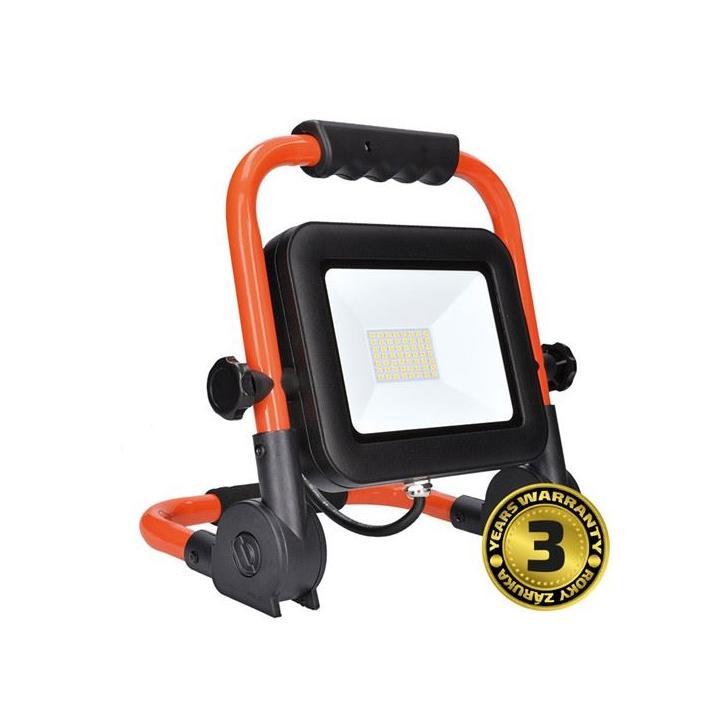 LED reflektor PRO se sklopným stojanem, 50W, 4250lm, 5000K, kabel se zástrčkou, IP65 WM-50W-FEL