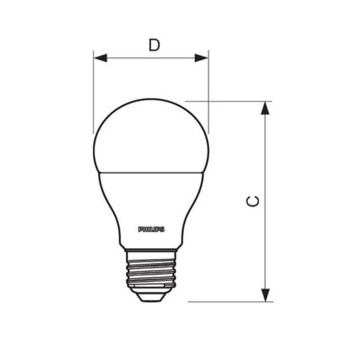 Philips LED žárovka  E27 9W 2700K 230V A60 SET 3ks