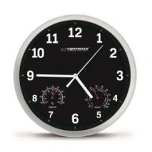Esperanza Nástěnné hodiny Lyon černé
