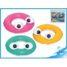 Kruh velké oči nafukovací 61cm 3-6let 3barvy