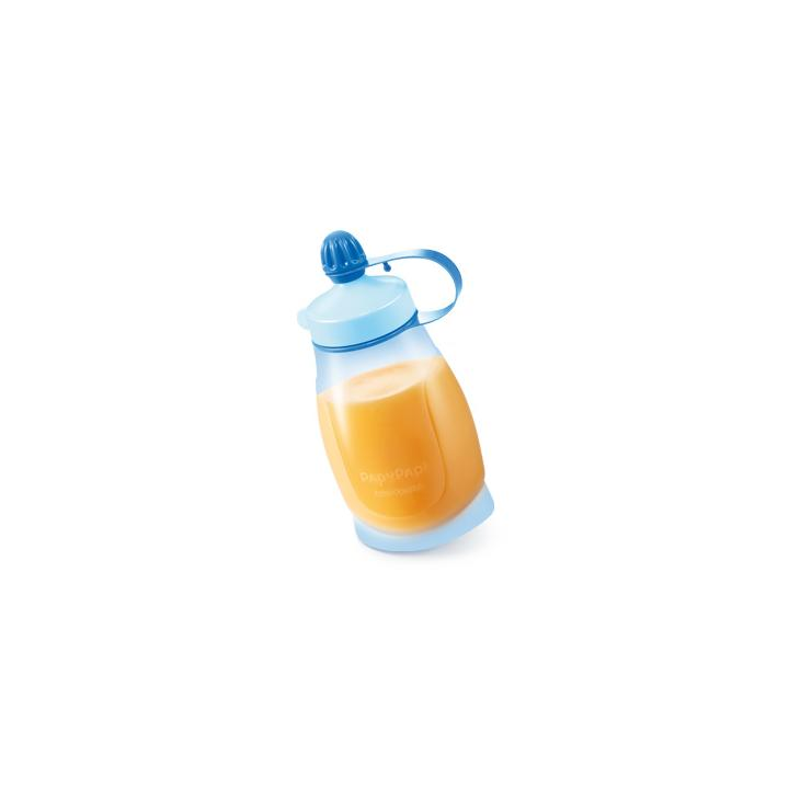 Tescoma Pružná láhev PAPU PAPI 200 ml, se lžičkou, modrá