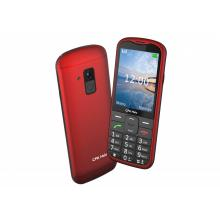 Telefon CPA Halo 18 červený senior s nabíjecím stojánkem