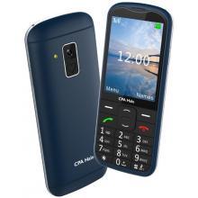 Telefon CPA Halo 18 modrý senior s nabíjecím stojánkem