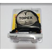 TOPEX Metr svinovací 5m oboustranná páska