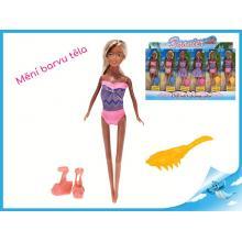 Panenka kloubová 29cm měnící barvu těla s doplňky
