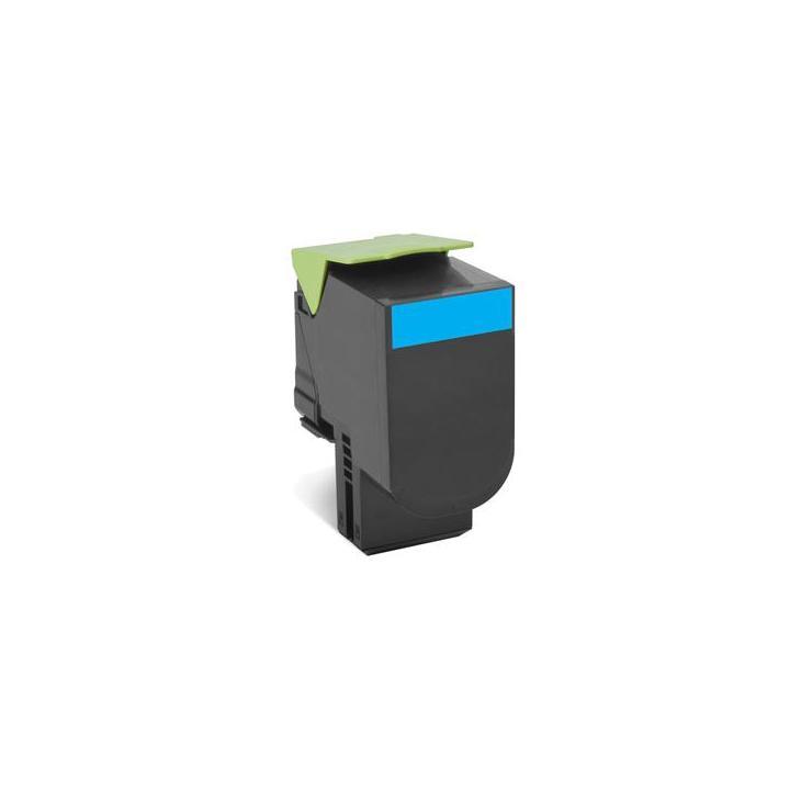 Lexmark 80C2SC0 - originální 802SC Cyan Standard Yield Return Program Toner Cartridge - 2 000 stran