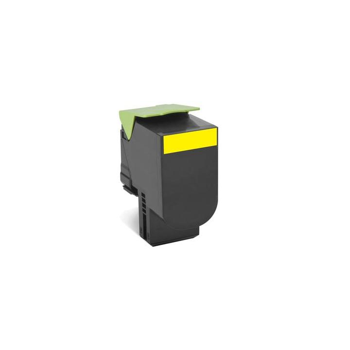 Lexmark 80C2SY0 - originální 802SY Yellow Standard Yield Return Program Toner Cartridge - 2 000 stran