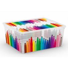 Plastový C Box s víkem M tužky