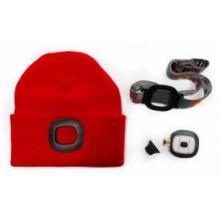 Čepice s LED světlem červená