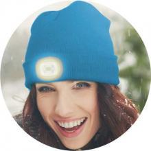 Čepice s LED světlem modrá