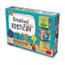 Topa Kostky kubus Příšerky dřevo 12ks v krabičce