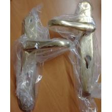 AMBRA ART.1081 Kliky se štíty dveřními leštěná mosaz 8/72