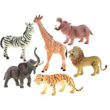 Mikrotrading Sada zvířátka safari 16-23 cm 6 ks
