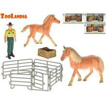 Mikro Trading Zoolandia kůň s hříbětem a doplňky