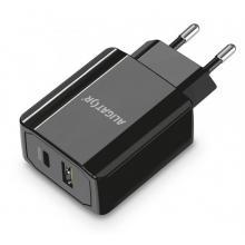 ALIGATOR Power Delivery 20W, USB-C + USB-A Chytrá síťová nabíječka