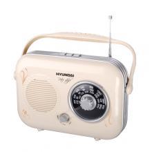 Hyundai PR 100 B Retro, béžová Radiopřijímač