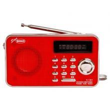 Bravo B-6018 rádio s USB a SD červené