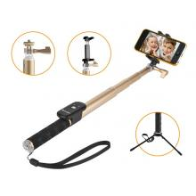 GoGEN 4 Selfie tyč teleskopická, bluetooth, zlatá GOGBTSELFIE4G