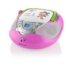 Gogen MAXI RADIO P, CD/MP3/USB, růžový Radiopřijímač