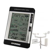 Hyundai WSP 3080 R WIND, s větroměrem a srážkoměrem, černá barva Meteorologická stanice