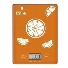 MPM SWK-1/5 kuchyňská váha Smile - oranžová