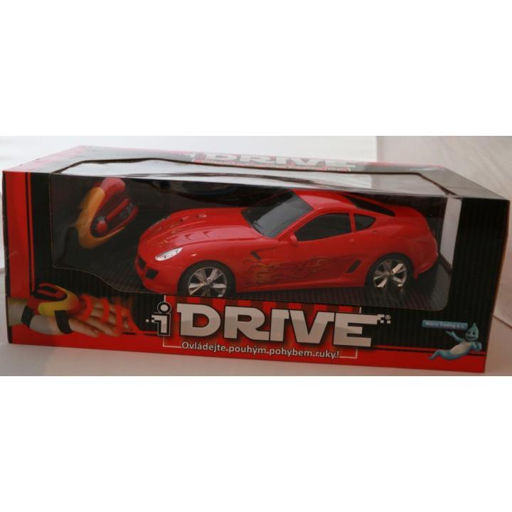 Teddies RC Auto I-Drive 1:16 modrá 25cm s ovládacím náramkem 68692