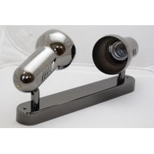 Rendl B2812/T Retro 2 bodové kovové světlo pro dvě žárovky - barva černý chrom
