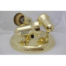 Rendl B2803/Z Retro plafond kovové svítidlo na tři žárovky barva zlatá