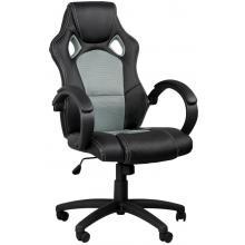 Židle kancelářská racing PRO ZK-010 – černá/šedá