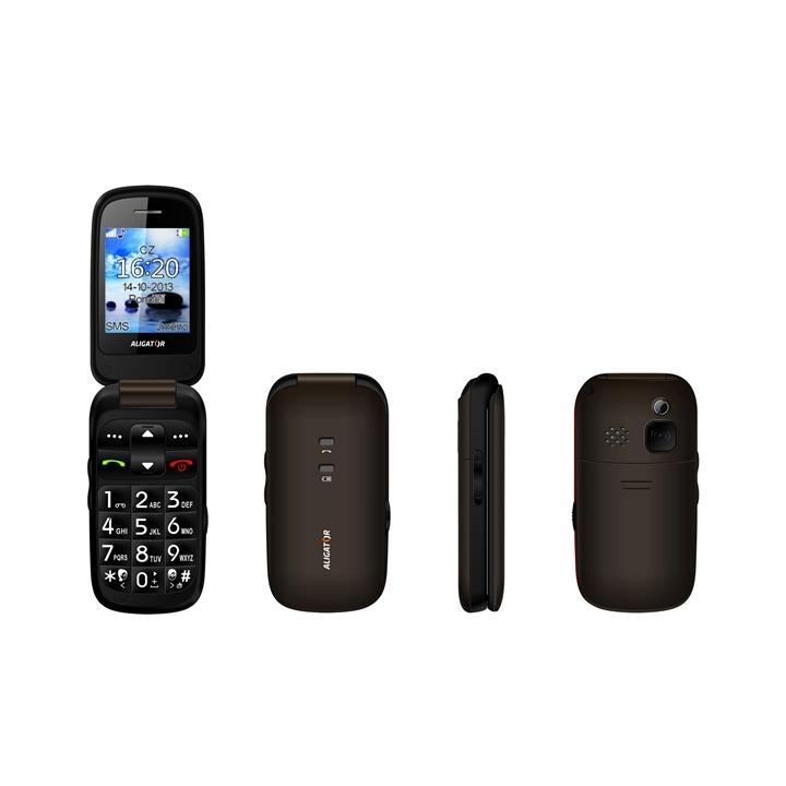 Aligator V550 - černý/titanium Mobilní telefon