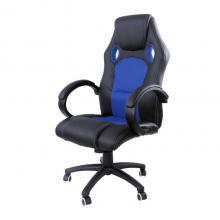 Židle kancelářská racing PRO ZK-010 černá/modrá